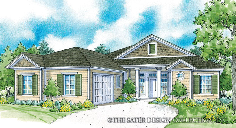 Kincaid Home - Front Elevation Rendering -Plan #6534