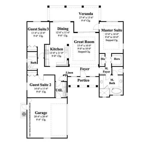 House Plan Marquette Sater Design Collection