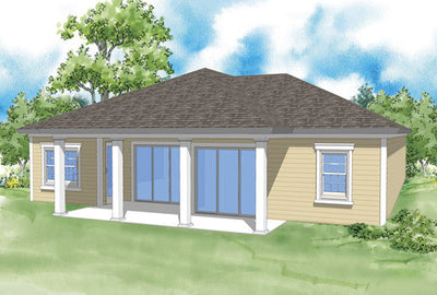Marquette-Rear Elevation-Plan #6536