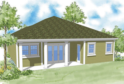 Parley-Rear Elevation-Plan #6539