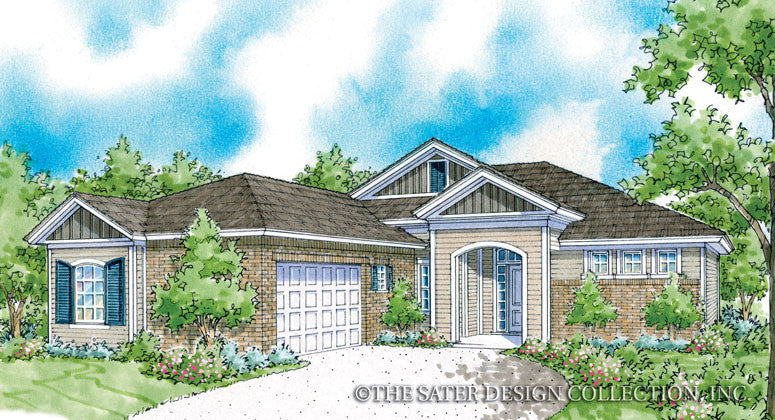 Villard-Front Elevation-Plan #6543