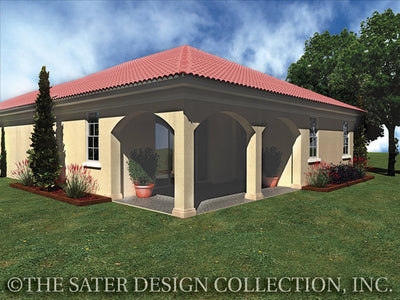 Arezzo-Rear Elevation-Plan #6547