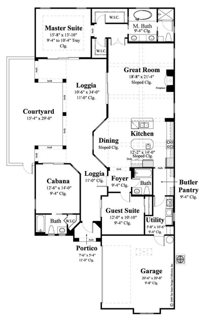 Floor Plan the Lizzano home plan