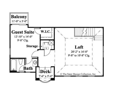 Melito-Upper Level Floor Plan-Plan #6555