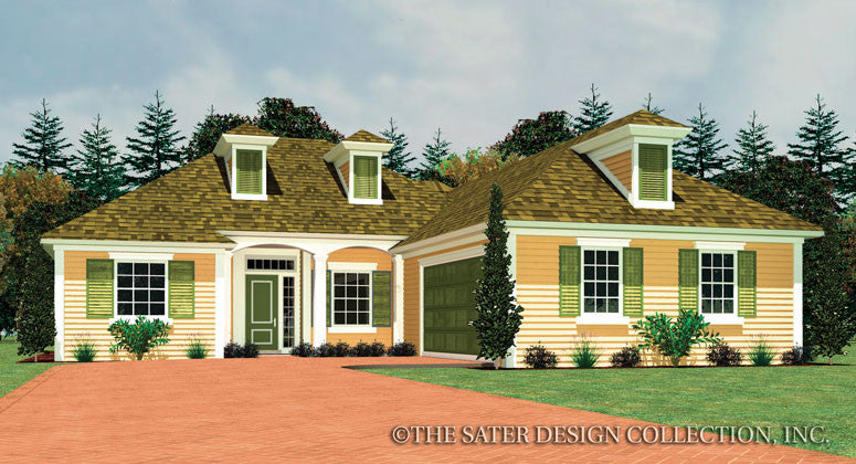 Easley-Front Elevation-Plan #6557