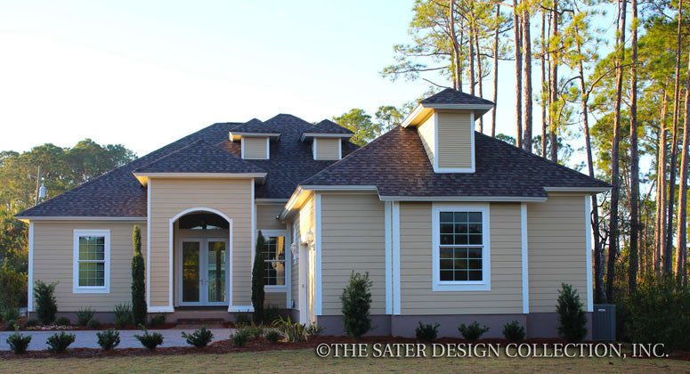 Southern Tidewater Luxury Home Plan front elevation