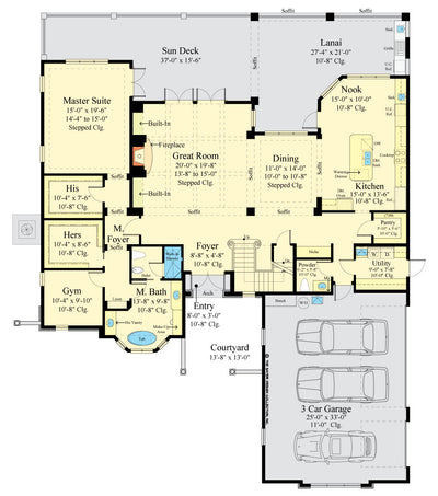 Maynard Home design main floor plan