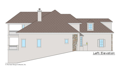 Maynard House Plan left elevation