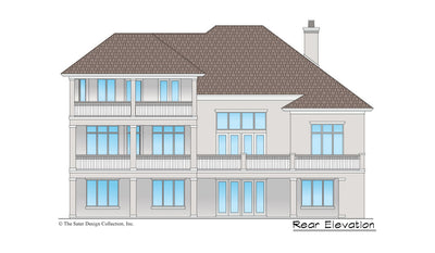 Maynard House Plan rear elevation