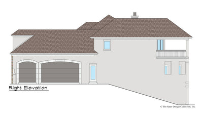 Maynard House Plan right elevation