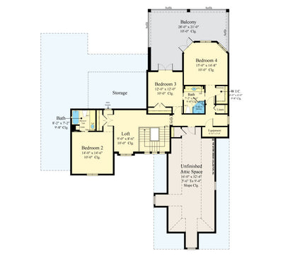 Maynard Home Design Second floor plan