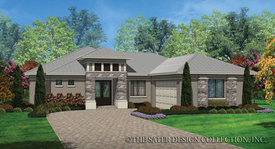 Alston-Front Elevation-Plan #6572