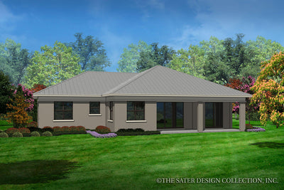 Alston-Rear Elevation-Plan #6572