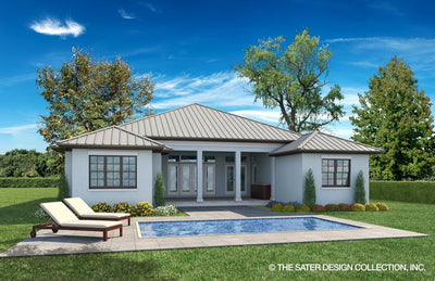 Birchley-West Indies Rear Elevation-Plan #6585
