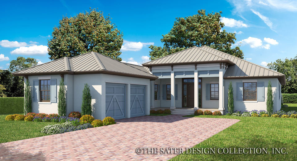 House plan birchley sater design collection for West indies style home plans
