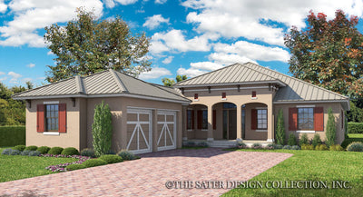 Elmhurst Way-Caribbean Front Elevation-Plan #6586