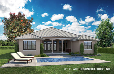 Elmhurst Way-Caribbean Rear Elevation-Plan #6586