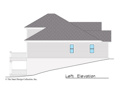 Jasmine Home Design left elevation