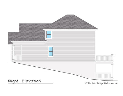 Jasmine Home Design right elevation
