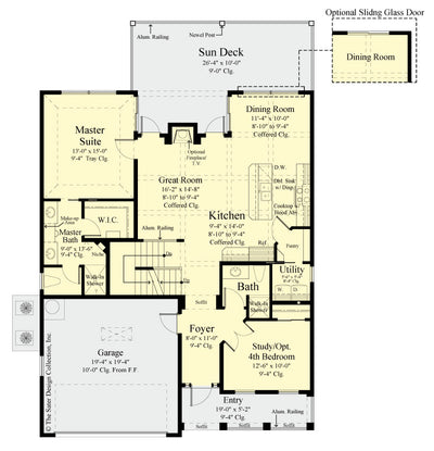 Jasmine Home Design main level floor plan