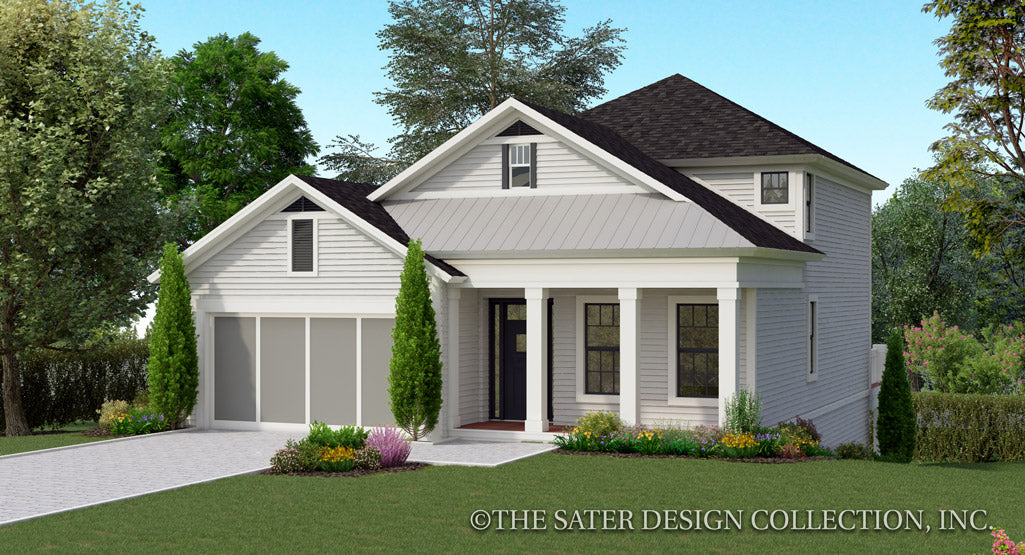 Jasmine House Plan front elevation color rendering