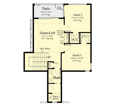 Jasmine Home Design upper level floor plan