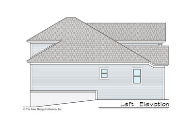 Gardenia House Plan left elevation