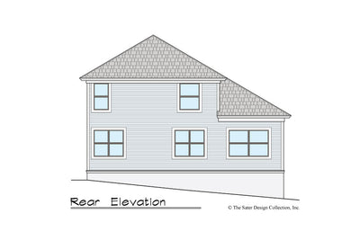 Gardenia House Plan rear elevation