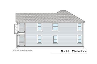 Gardenia House Plan right elevation