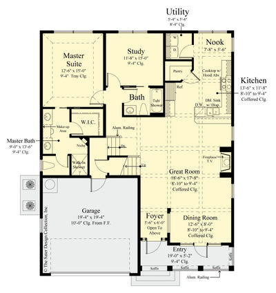 Gardenia Home Design main level floor plan