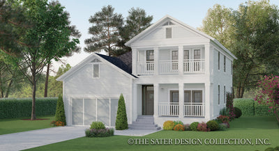 Gardenia House Plan front elevation color rendering