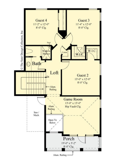 Gardenia home design upper level floor plan