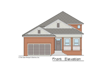 Begonia House Plan front elevation