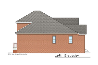 Begonia House Plan left elevation