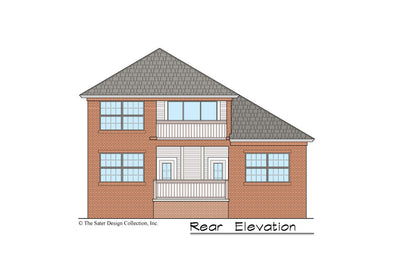 Begonia House Plan rear elevation