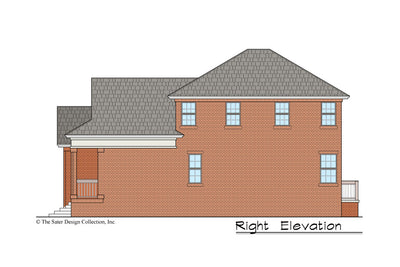 Begonia House Plan right elevation