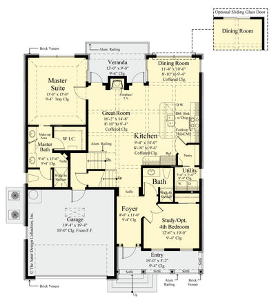 Begonia home design first floor plan