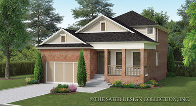 Begonia House Plan front elevation color rendering