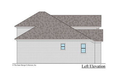 Azalea house design left elevation