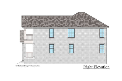 Azalea house design right elevation