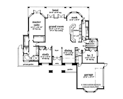 Torrey Pines Way-Main Level Floor Plan-#6608