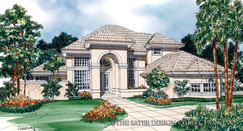Torrey Pines Way-Front Elevation-Plan #6608