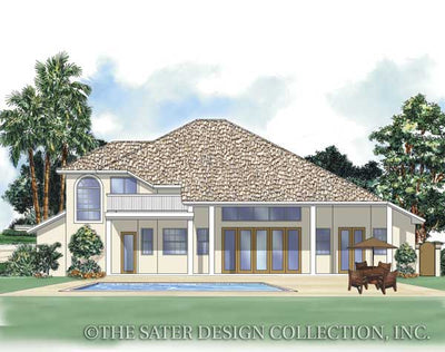 Torrey Pines Way-Rear Elevation-Plan #6608
