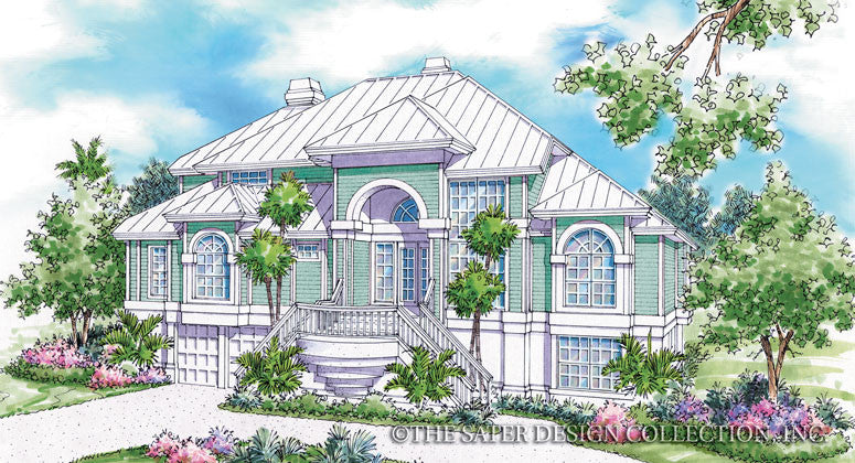 Galleon Bay-Front Elevation-Plan #6620