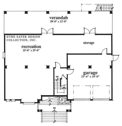 Plan #6622-Lower Level Floor Plan-Admiralty Pointe