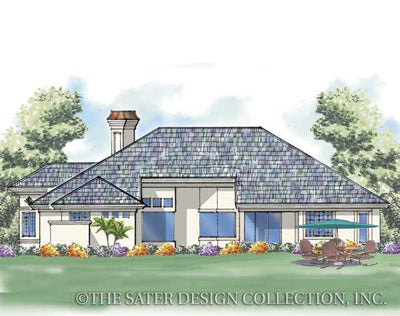Royal Troon Lane-Rear Elevation-Plan #6633