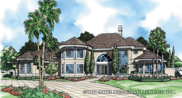 Port Royal Way-Front Elevation-Plan #6635