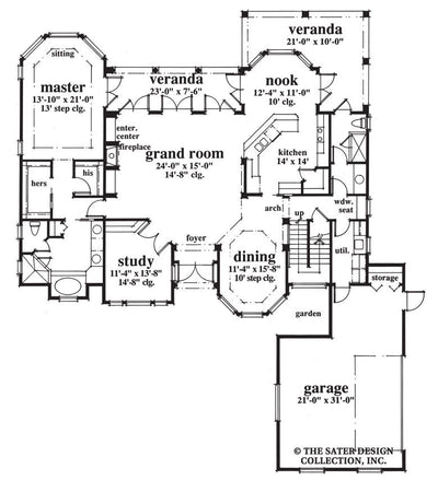 Elk River Lane-Main Floor Plan-Plan #6652