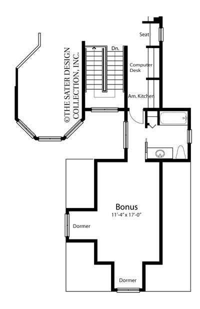Elk River Lane-Bonus Room Floor Plan-Plan 6652