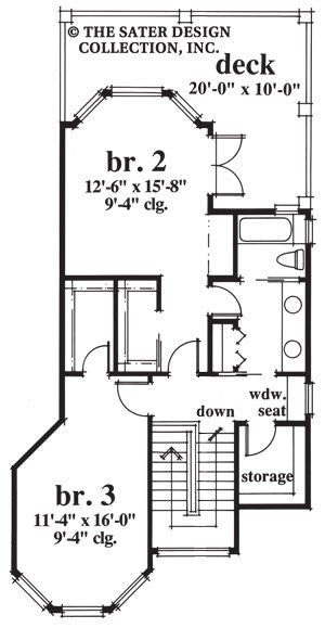 Elk River Lane-Upper Level Floor Plan-#6652